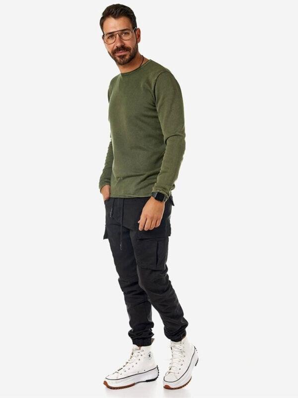 Ανδρικό παντελόνι cargo μαύρο
