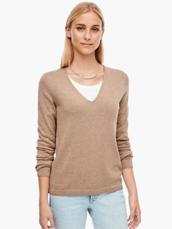 Γυναικεία Πλεκτή Μπλούζα με V-Νeck