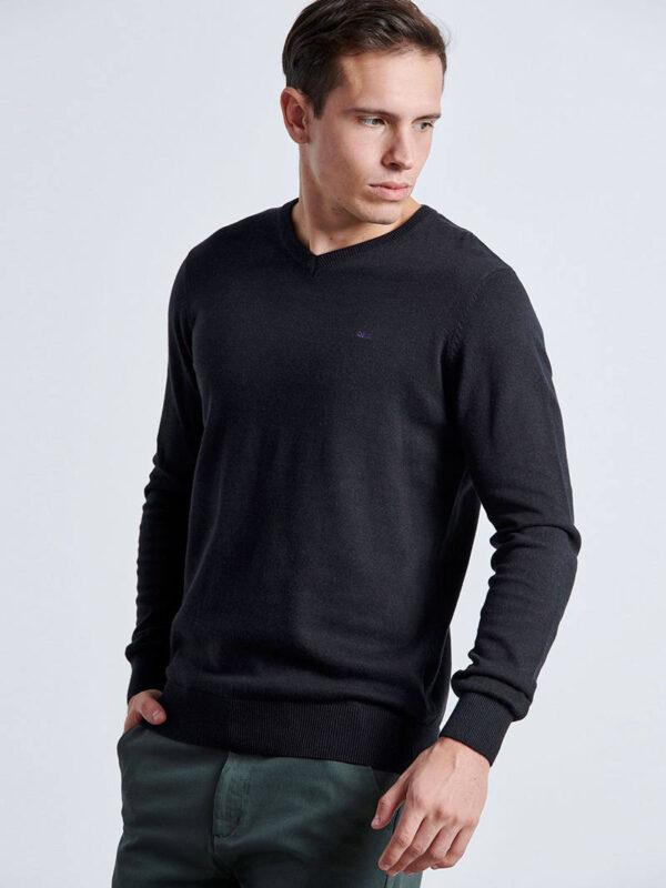 πλεκτή Μπλούζα με άνοιγμα V
